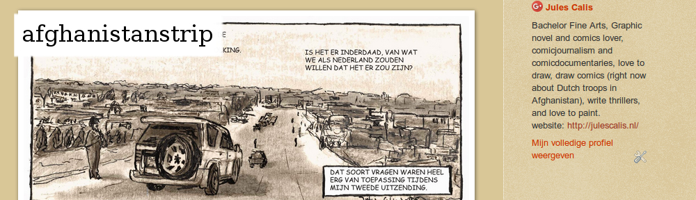 """Over het verloop van """"Van Brabant naar Afghanistan en terug"""". Een journalistieke strip over Dongense soldaten en veteranen in Afghanistan."""